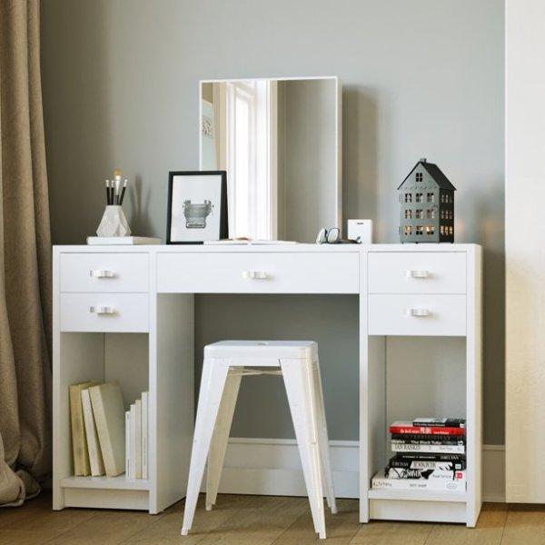 Boahaus 时尚简约白色梳妆台
