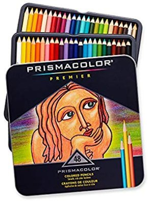 Amazon.com : Prismacolor 3598T Premier Soft Core Colored Pencils, Soft, Thick Core Pencils for a Smooth Color Laydown, Pigments, Assorted Colors, Pack of 48 : Wood Colored Pencils : Office Products