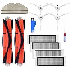 Amazon.com - Accessory Kit for Xiaomi Mi Robot Xiaomi mijia roborock s50 s51 roborock 2 Vacuum Cleaner Replacement Parts Pack of Main Brush, Hepa Filter, Side Brush, Cleaning Tool and Mop Cloth -