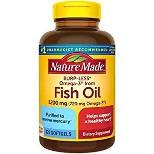 Omega-3 高含量鱼油胶囊 1200 mg 100粒