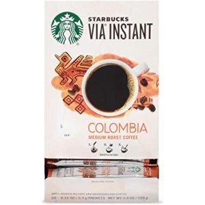 Starbucks Via Instant Medium Roast Packets Coffee 50pks