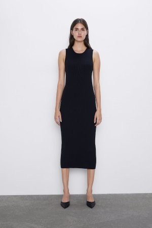 LONG RIBBED DRESS-Dresses-KNITWEAR-WOMAN | ZARA United States