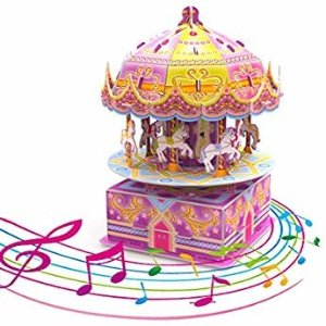 Amazon.com: ROBOTIME DIY Craftable Music Box Set, Build Your Own 3D Wood Puzzle, Ferris Wheel, Plays Song - Castle In The Sky: Toys & Games