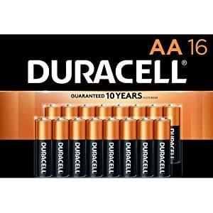 16颗$9.51 24颗$13.81Duracell AA 铜头碱性电池促销