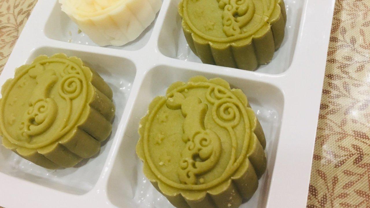 中秋节🎑之冰皮奶黄月饼🥮-皮篇