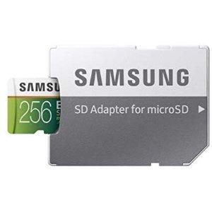 amsung EVO Select 256GB 100MB/s U3 MicroSDXC