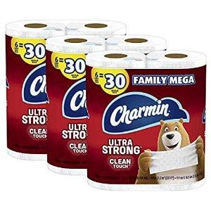 $25.79Charmin Ultra Strong 卫生纸, 每包6卷 x 3