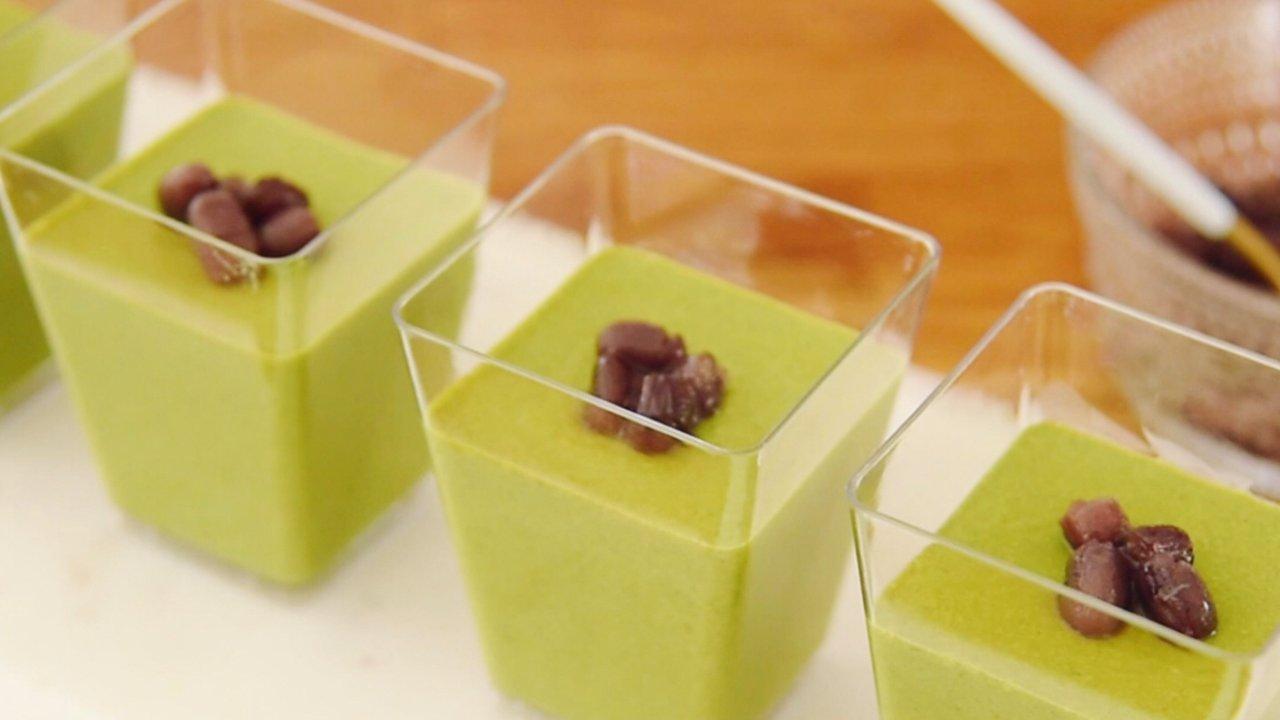 有锅和冰箱就能做的日式蜜豆抹茶豆腐:清凉低脂夏日绝配