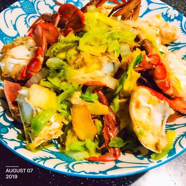 好吃的蟹炒白菜❤︎要不要试试看~