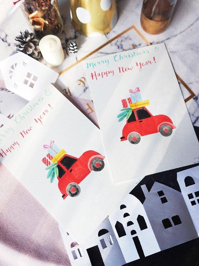 圣诞卡DIY - 小车车