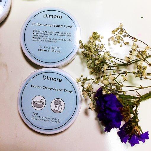 第一次测评之Dimora全棉超柔压缩面巾!