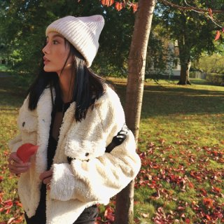 秋天OOTD||暖暖的泰迪外套🍁...