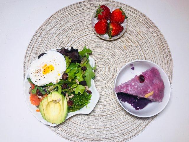烘培|紫薯发糕