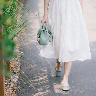 穿搭|白裙子➕芭蕾舞鞋🩰清凉一夏的纯情少...