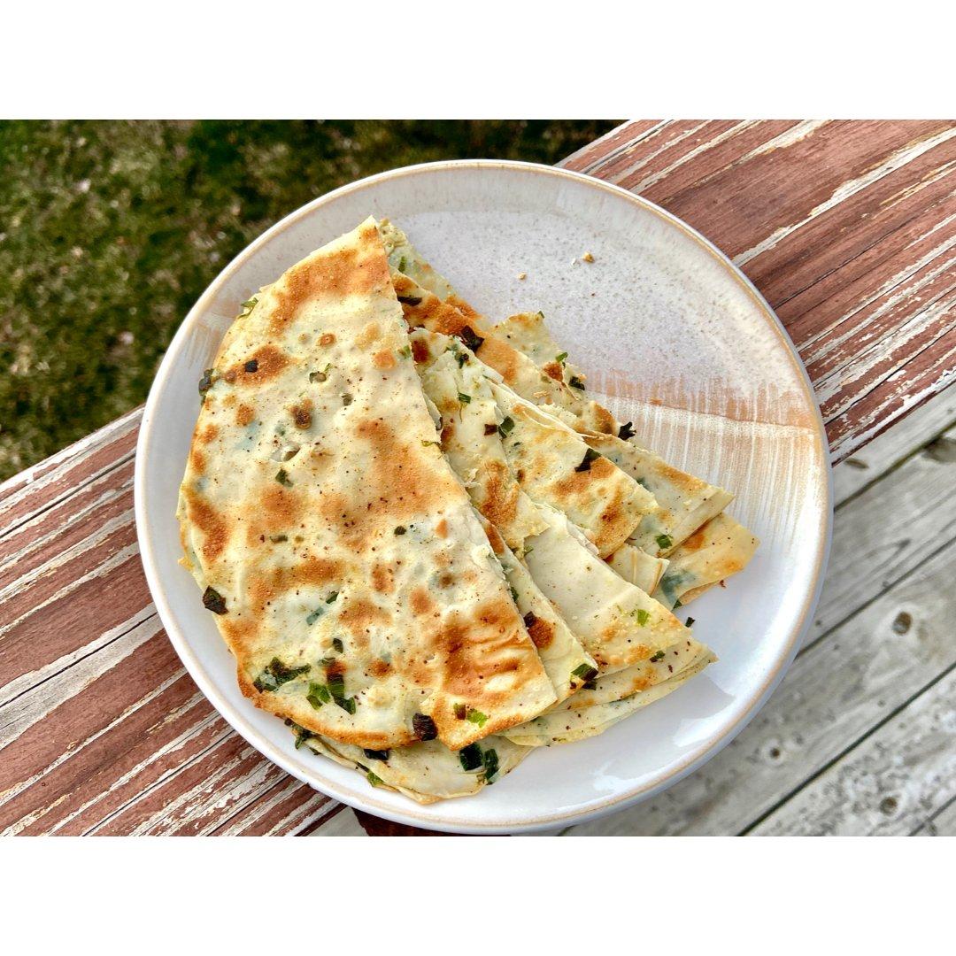 饺子皮版🥟葱油饼 十分钟快手美食🥰