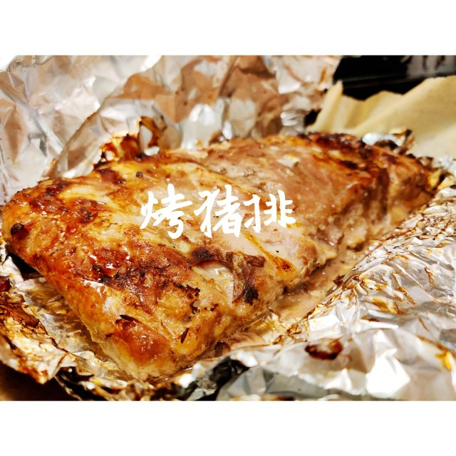 菜菜厨房| 蒜香蜜汁烤猪排!