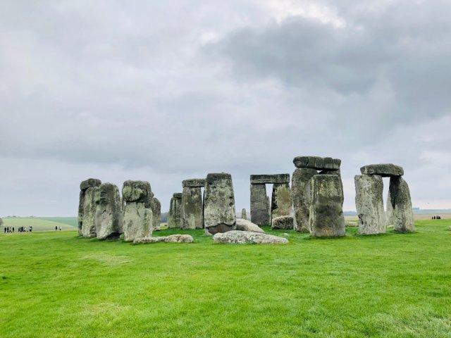 旅游热点英国巨石阵打卡