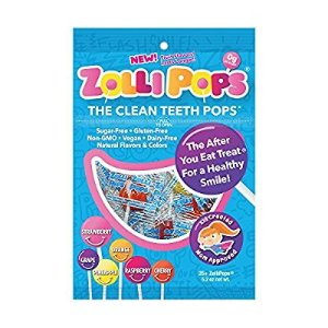 $5.49Zollipops The Clean Teeth Pops, Anti Cavity Lollipops Delicious Assorted Flavors 25 Count