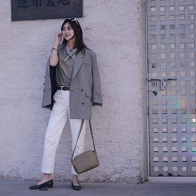 春意盎然的绿+白清新Look来袭