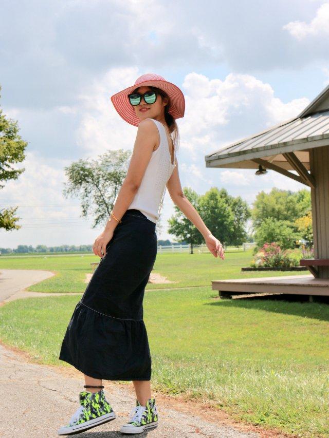 夏日长裙| 周末公园散步⛲️