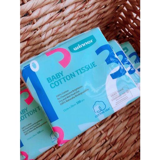 【微众测】Winner婴儿全棉纸巾给宝宝最好的呵护