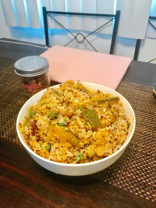 ❤️金黄色的暖心主食:南瓜🎃排骨藜麦饭