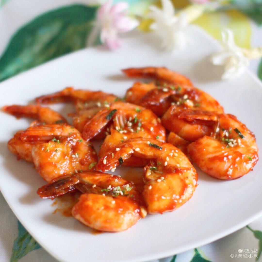 酸酸甜甜好味道| 🍅蒜蓉茄汁大虾🦐
