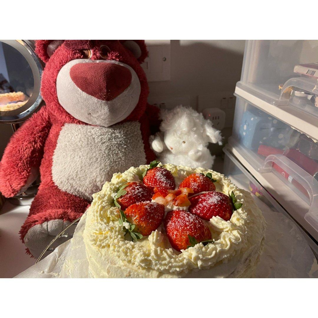 姐妹生日 diy草莓蛋糕