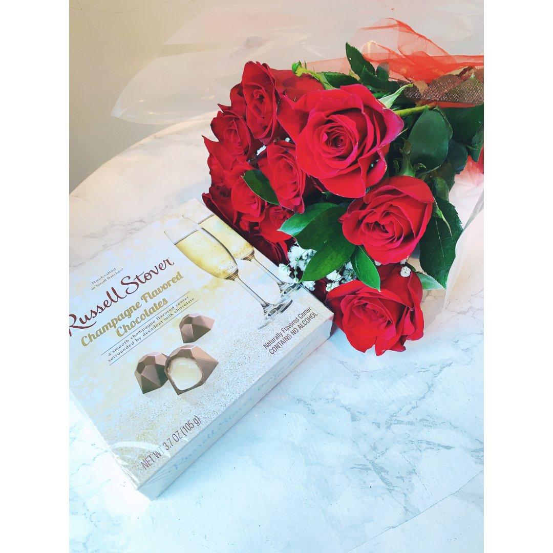 情人节提早收到花