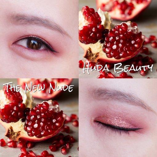 Huda Beauty 神仙盤粉紅亮片眼妝分享