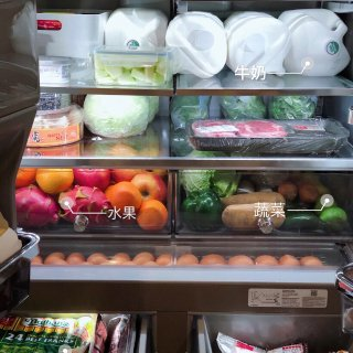 通过合理的分类收纳,不仅节省了冰箱空间,...