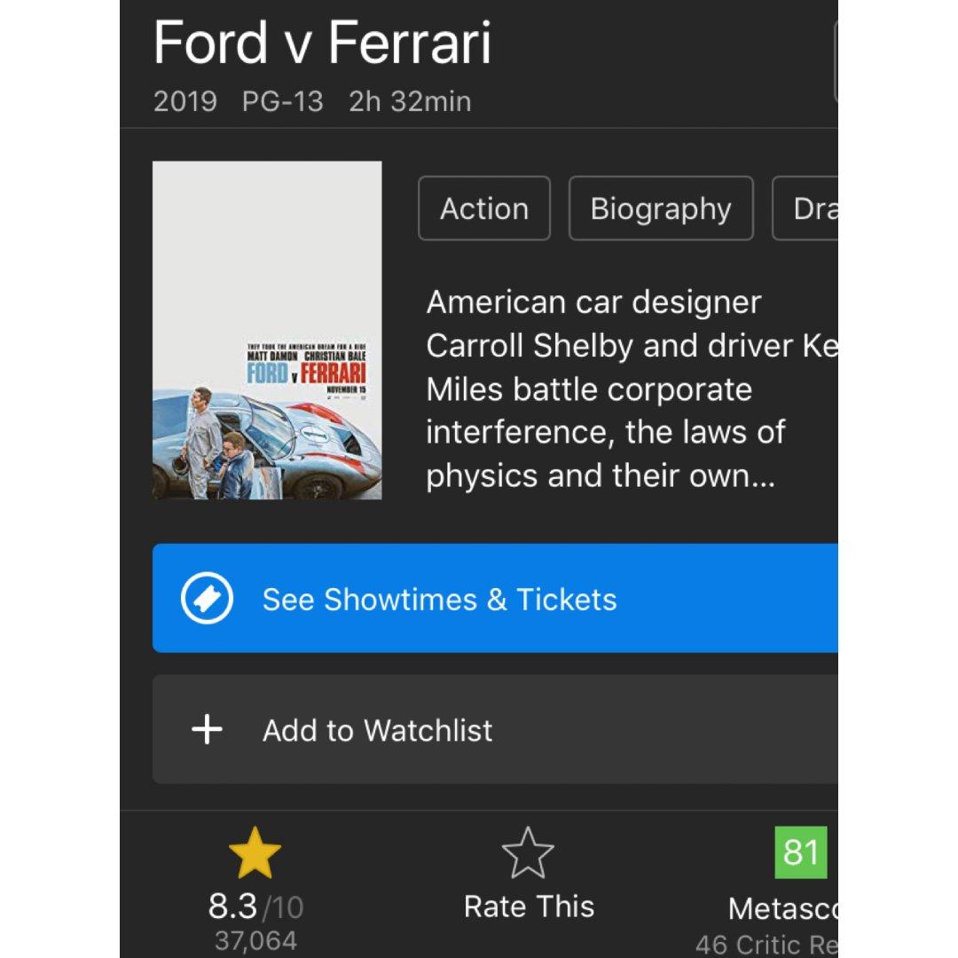 电影推荐   Ford & Fer...
