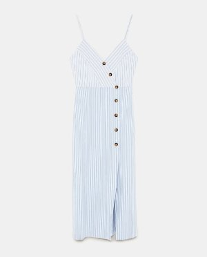 STRIPED DRESS WITH BUTTONS-View all-DRESSES-WOMAN | ZARA United States