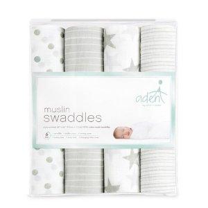 Aden® by Aden + Anais® Muslin Swaddles - Dusty - Light Gray : Target