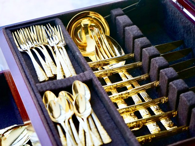 感恩节大餐分享——来自沙特的土豪餐具