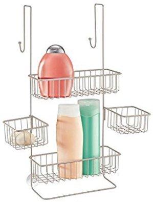 $19.99InterDesign Metalo Adjustable Over Door Shower Caddy – Bathroom Storage Shelves