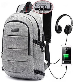 $26.99Laptop Backpack, Business Anti Theft Waterproof Travel Backpack with USB Charging Port