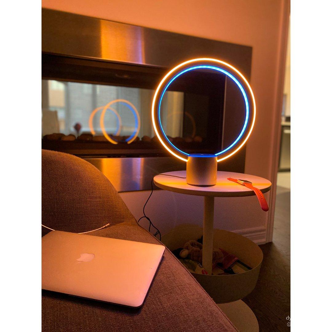 Alexa音响光圈灯 极简未来设计🔘