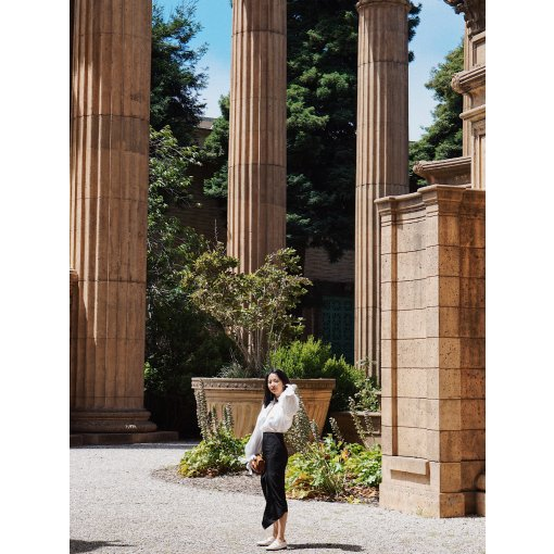 #昆娜穿搭#7月的黑白经典复古色调穿搭分享