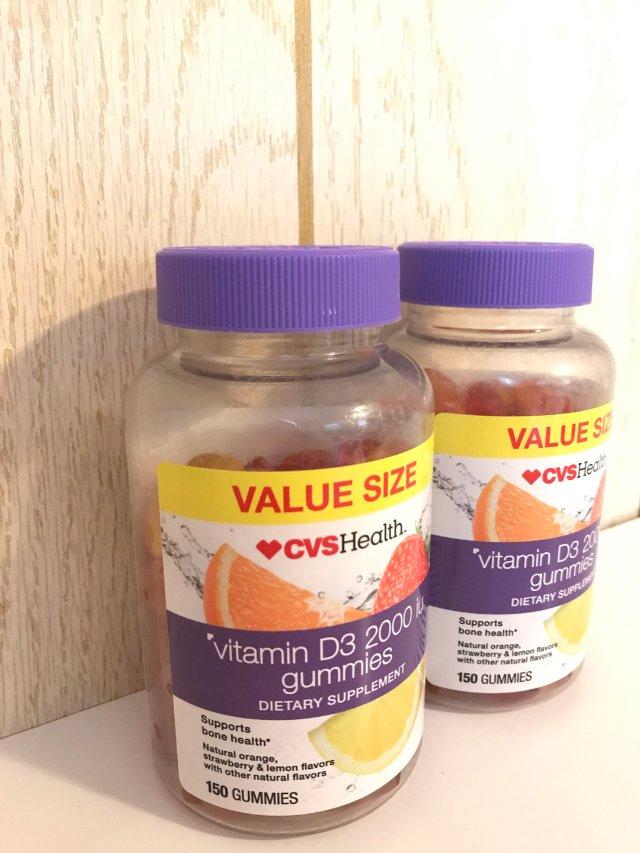 Cvs的包裹📦已到,两瓶维他素D3...