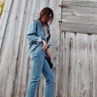 新入的Toteme牛仔裤 ...