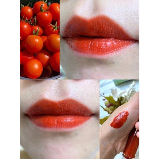 阿玛尼红管405烂番茄色唇釉试色