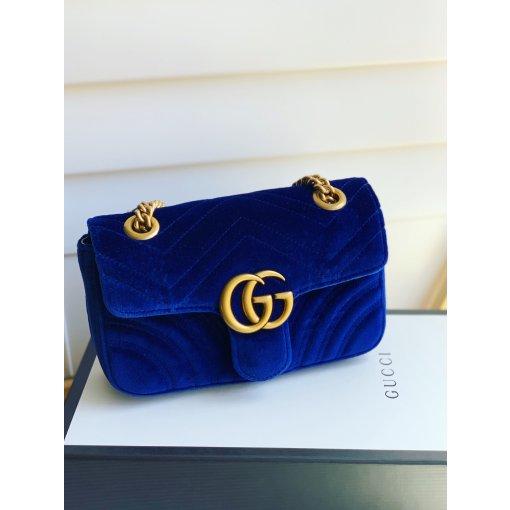 Gucci蓝丝绒mini包包💙
