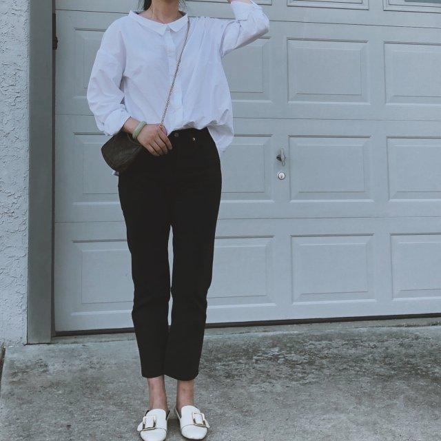 一周穿搭挑战#4,经典白衬衫的休闲搭配