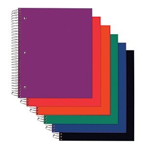 $3Office Depot® Brand Poly Cover Wirebound Notebook, 3 Hole-Punched, 9