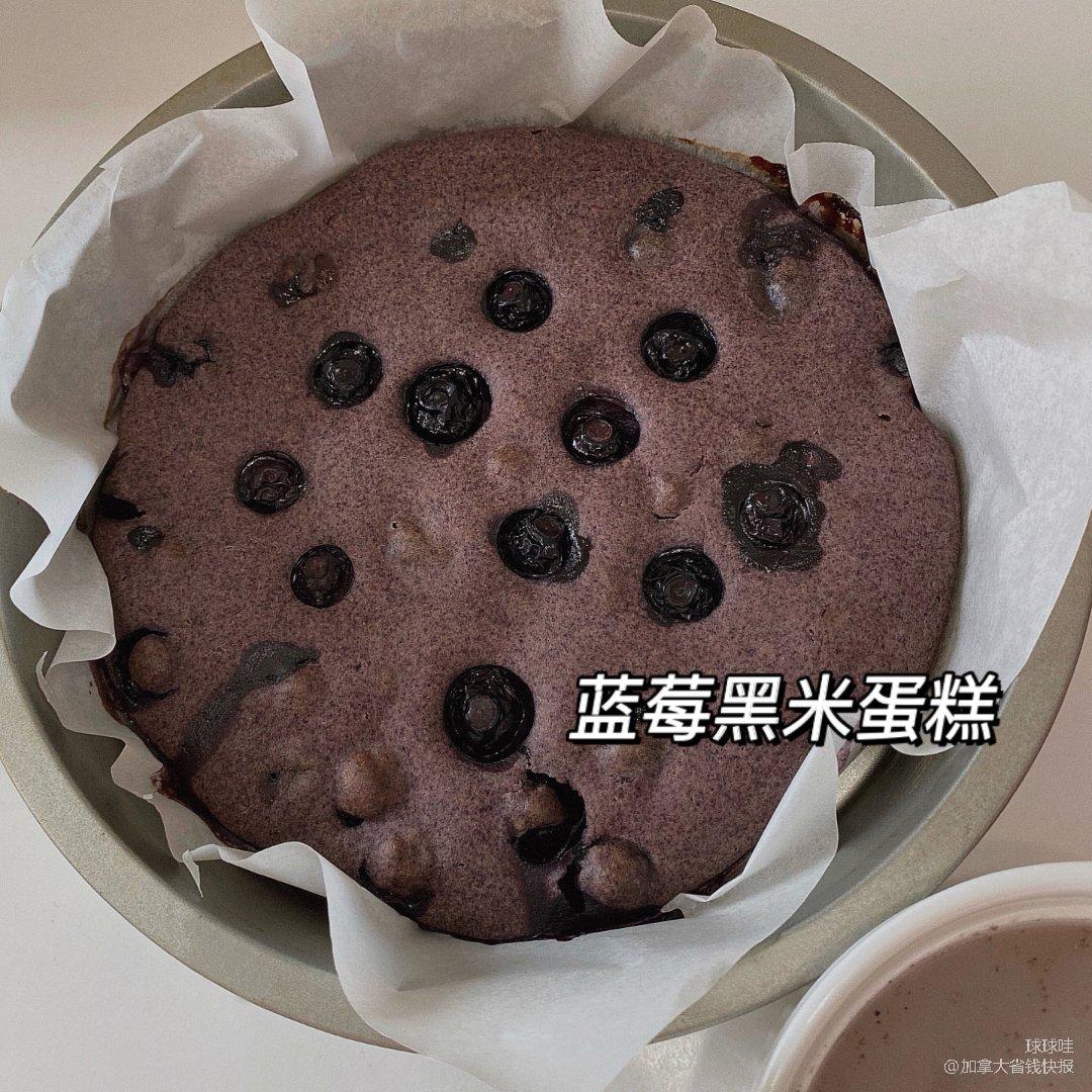 蓝莓黑米蛋糕💜一些好看的蓝莓甜点