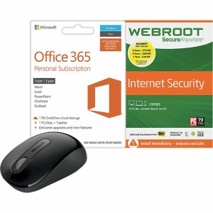 $69Microsoft Office 365 + Webroot SecureAnywhere + 900 Wireless Mouse