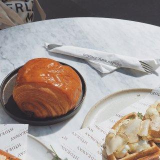 伦敦美食 Hideaway的早餐很好吃...