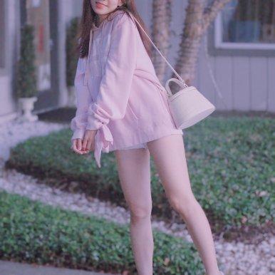 Mini 粉色手提斜背两用包