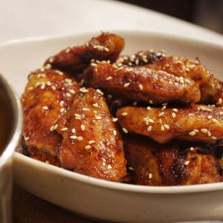 蒜香蜂蜜酱油味烤翅...